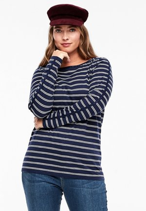 MIT GLITZER - Long sleeved top - blue stripe
