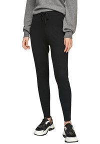 s.Oliver - Tracksuit bottoms - black - 6
