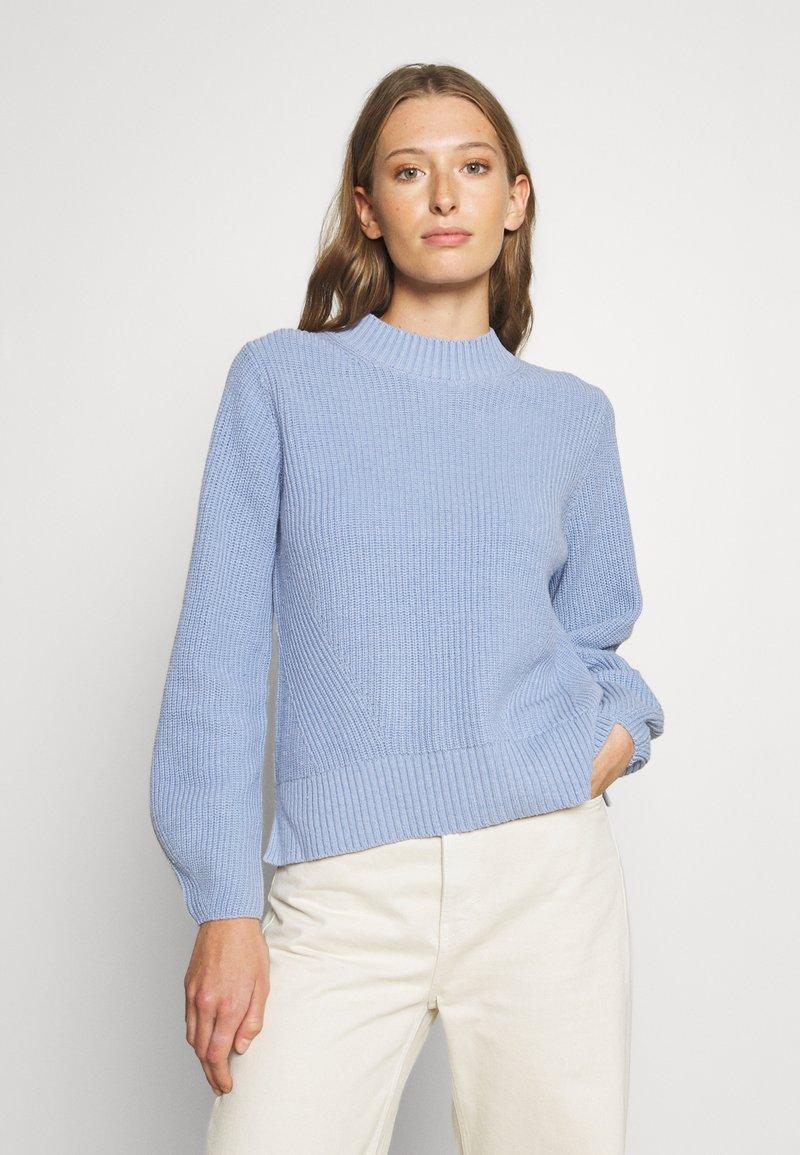 Selected Femme - SLFLESLIE O-NECK - Trui - brunnera blue