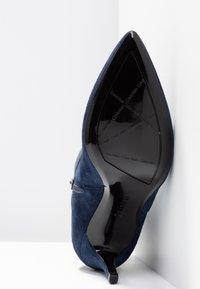 Calvin Klein - GITAR - High heeled ankle boots - dark navy - 6