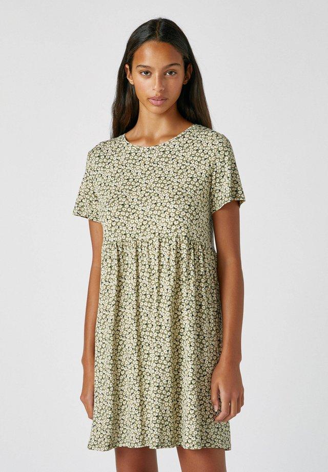 Sukienka letnia - mottled dark green