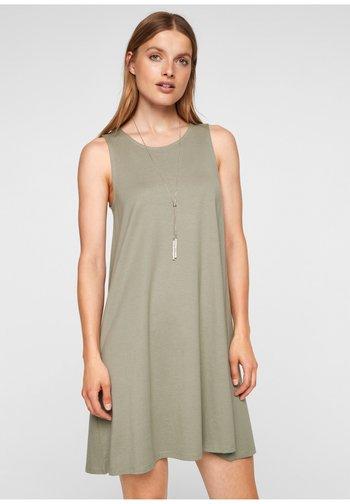 MET RUGHALS - Jersey dress - summer khaki