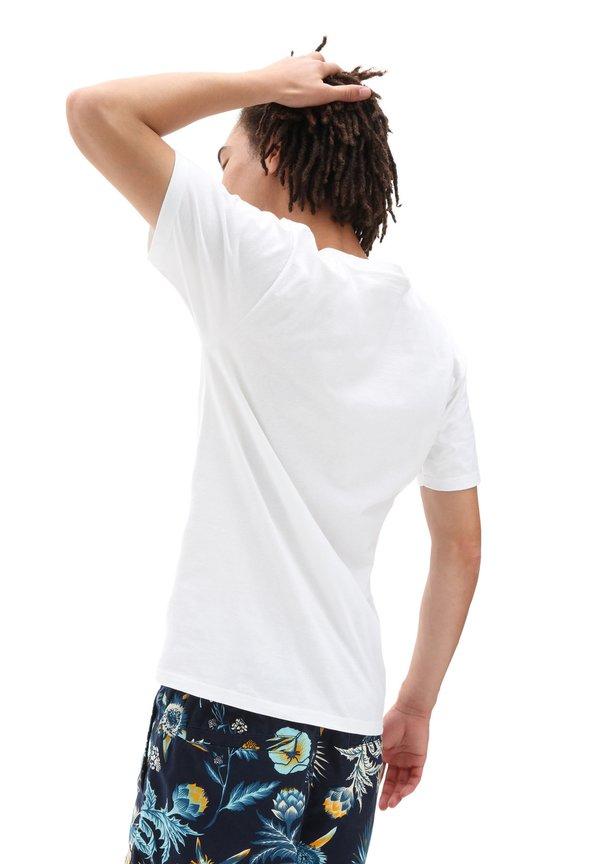 Vans T-shirt z nadrukiem - califas/white/biały Odzież Męska RGKF