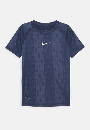 DRY TEE RETRO SOCCER - T-shirts med print - midnight navy