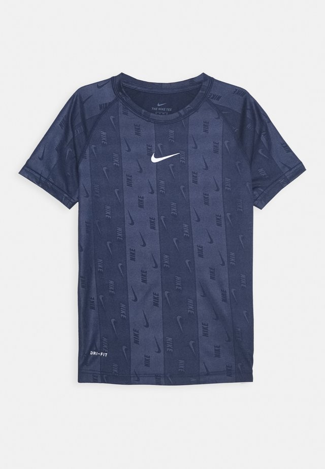 DRY TEE RETRO SOCCER - T-shirt imprimé - midnight navy