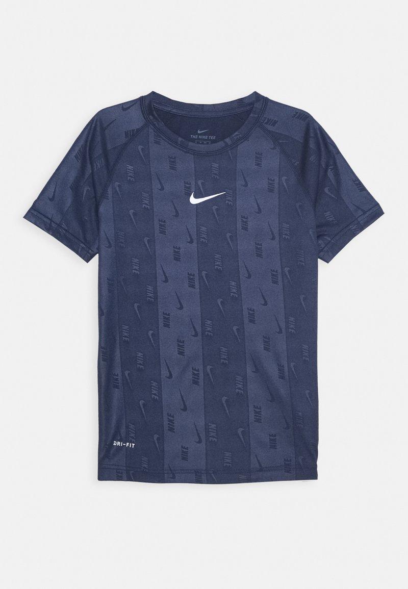 Nike Performance - DRY TEE RETRO SOCCER - Print T-shirt - midnight navy