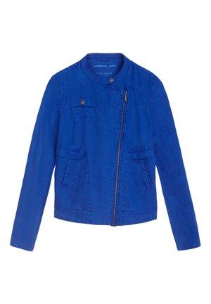 Faux leather jacket - hellblau
