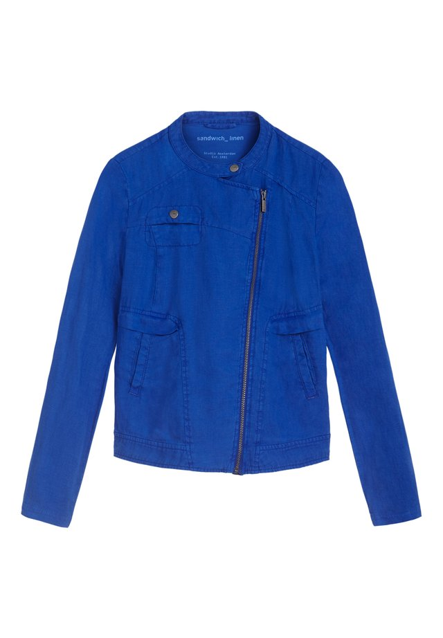 Faux leather jacket - hellblau