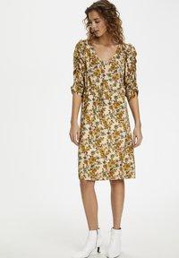 Cream - EMMELIECR  - Day dress - tinsel flowers - 1
