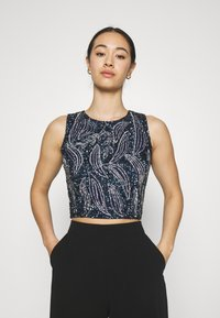 Lace & Beads - PICASSO LEAF - Top - navy - 0