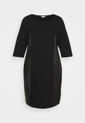 DRESS ABRIC MIX - Day dress - deep black
