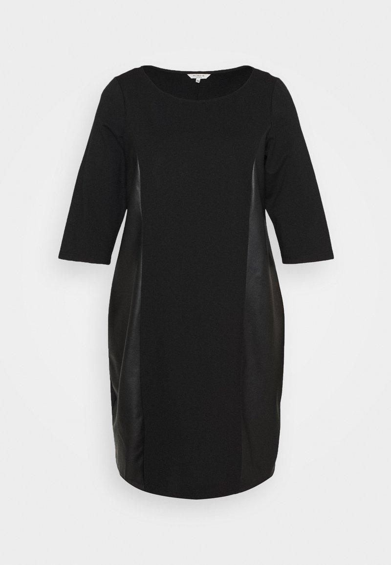 MY TRUE ME TOM TAILOR - DRESS ABRIC MIX - Day dress - deep black