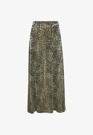 Maxi skirt - light grey leo burn out
