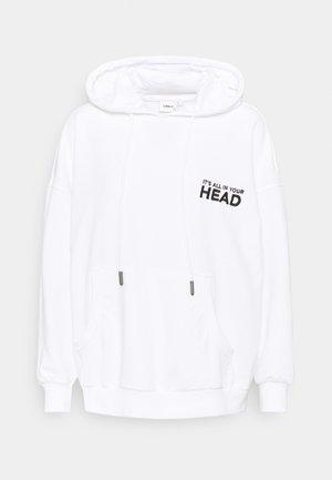 ONLTENNA LIFE OVERSIZE HOOD - Sweatshirt - bright white