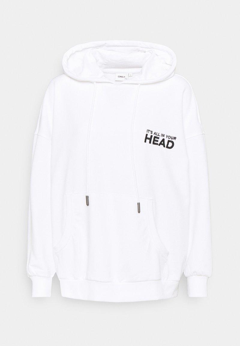 ONLY - ONLTENNA LIFE OVERSIZE HOOD - Sweatshirt - bright white