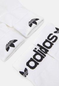 adidas Originals - 3 PACK FOLD CUFF UNISEX - Sokken - white/black - 1