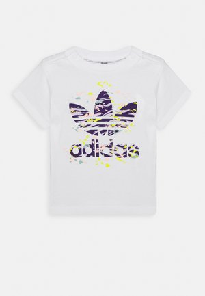 TREF TEE - T-shirt z nadrukiem - white/purple