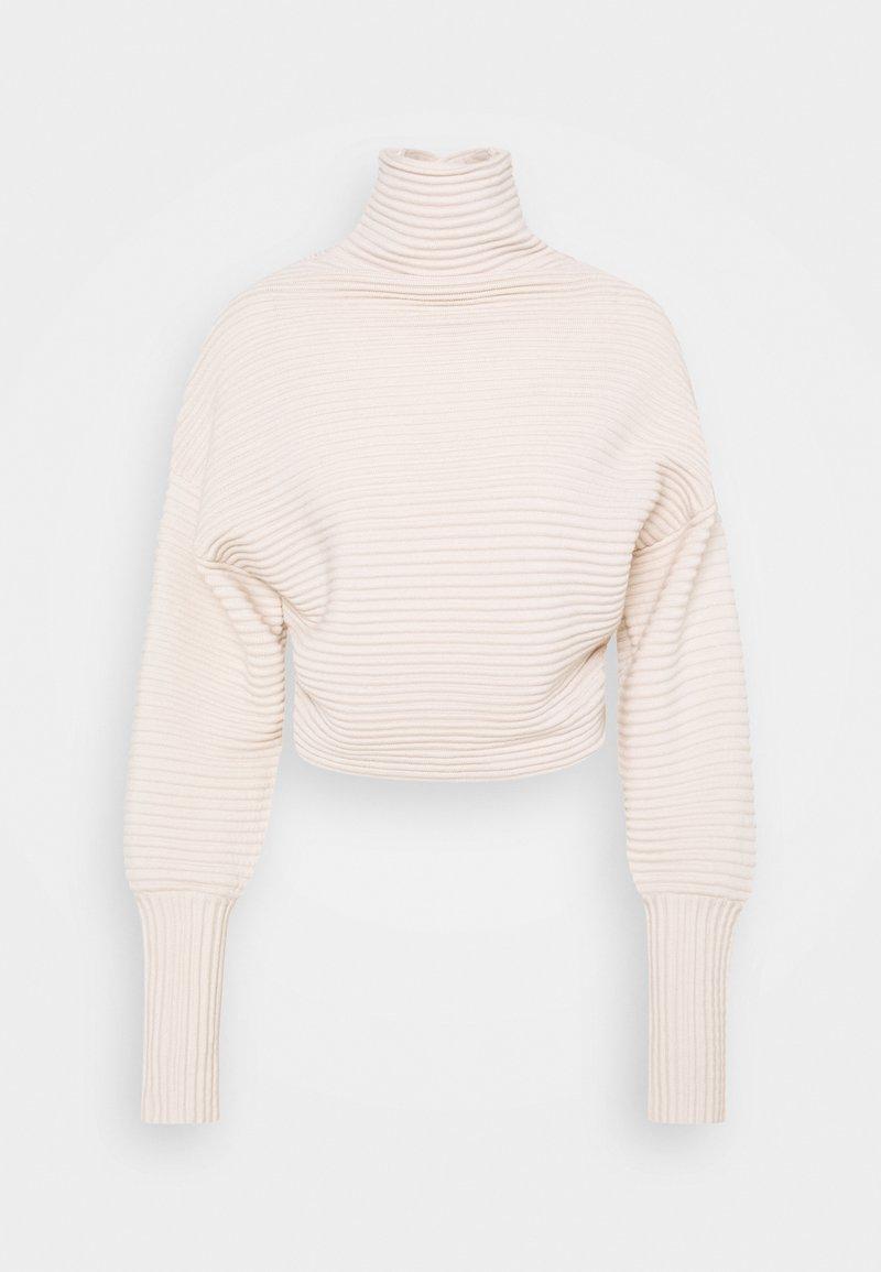 Victoria Victoria Beckham - CROSSOVER BACK JUMPER - Sweter - paper white