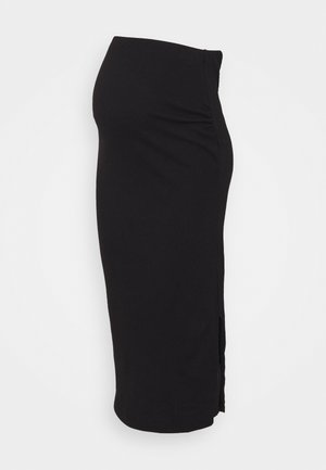 SPLIT SIDE MIDI SKIRT - Falda de tubo - black