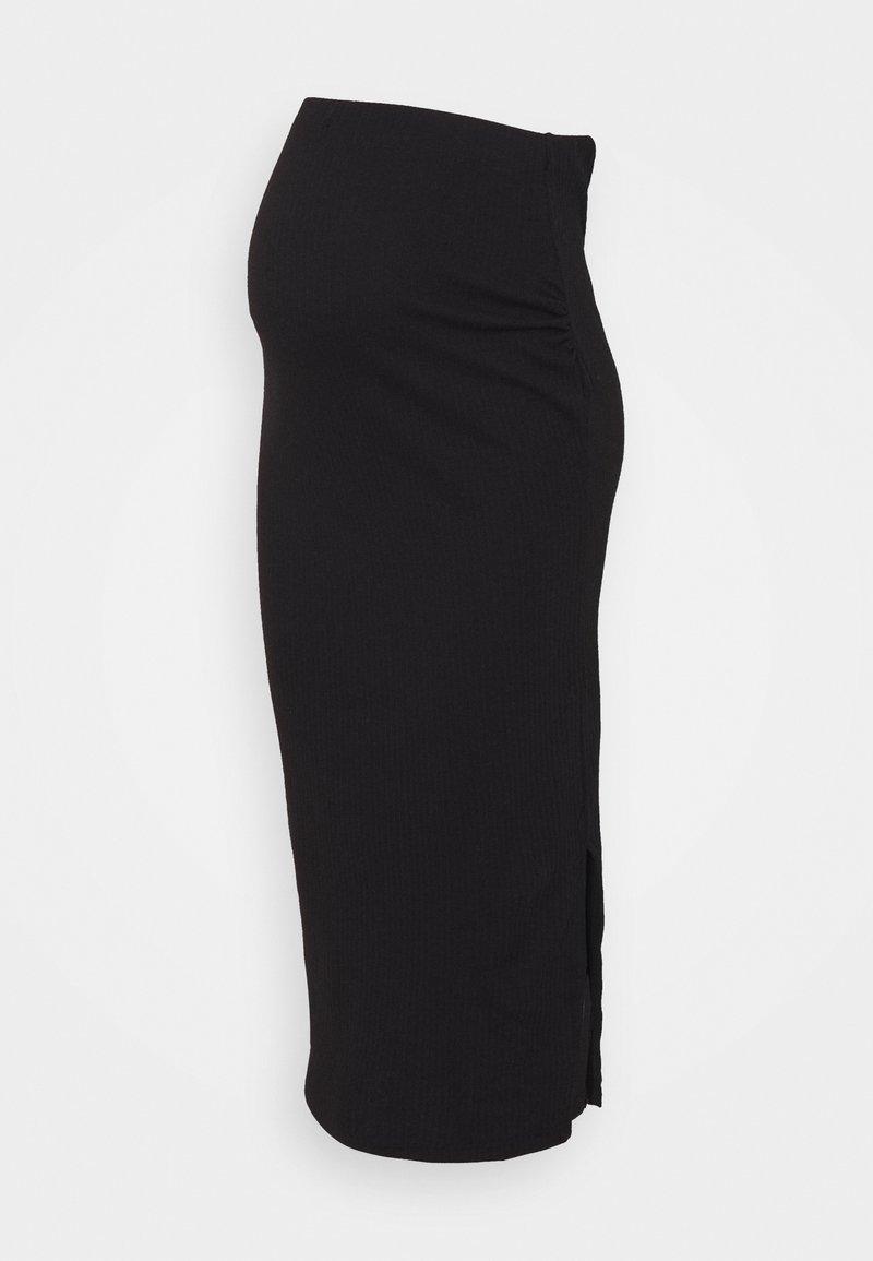 Missguided Maternity - SPLIT SIDE MIDI SKIRT - Pencil skirt - black