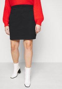 Even&Odd Curvy - Mini skirt - black - 0