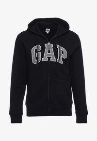 GAP - ARCH - Zip-up sweatshirt - true black - 3