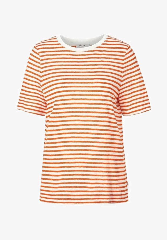 Print T-shirt - poppy orange