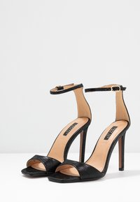 Topshop Wide Fit - WIDE FIT SILVY PART - High heeled sandals - black - 4