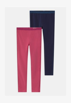 2 PACK - Leggings - navy blazer/dark pink