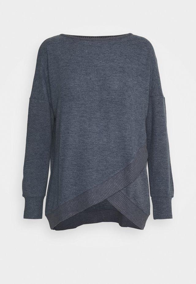 THERMAL SWEATER - Pyžamový top - pebble grey