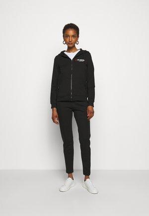 SET - Zip-up hoodie - black