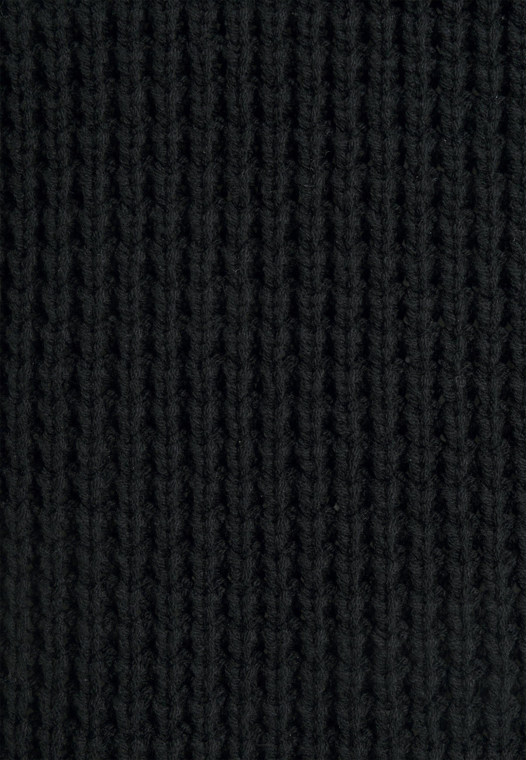 edc by Esprit COWL NECK Strickkleid black/schwarz