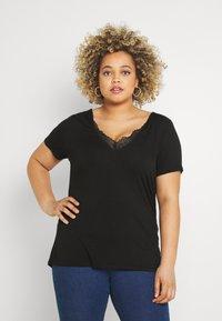 Anna Field Curvy - T-shirt basique - black - 0