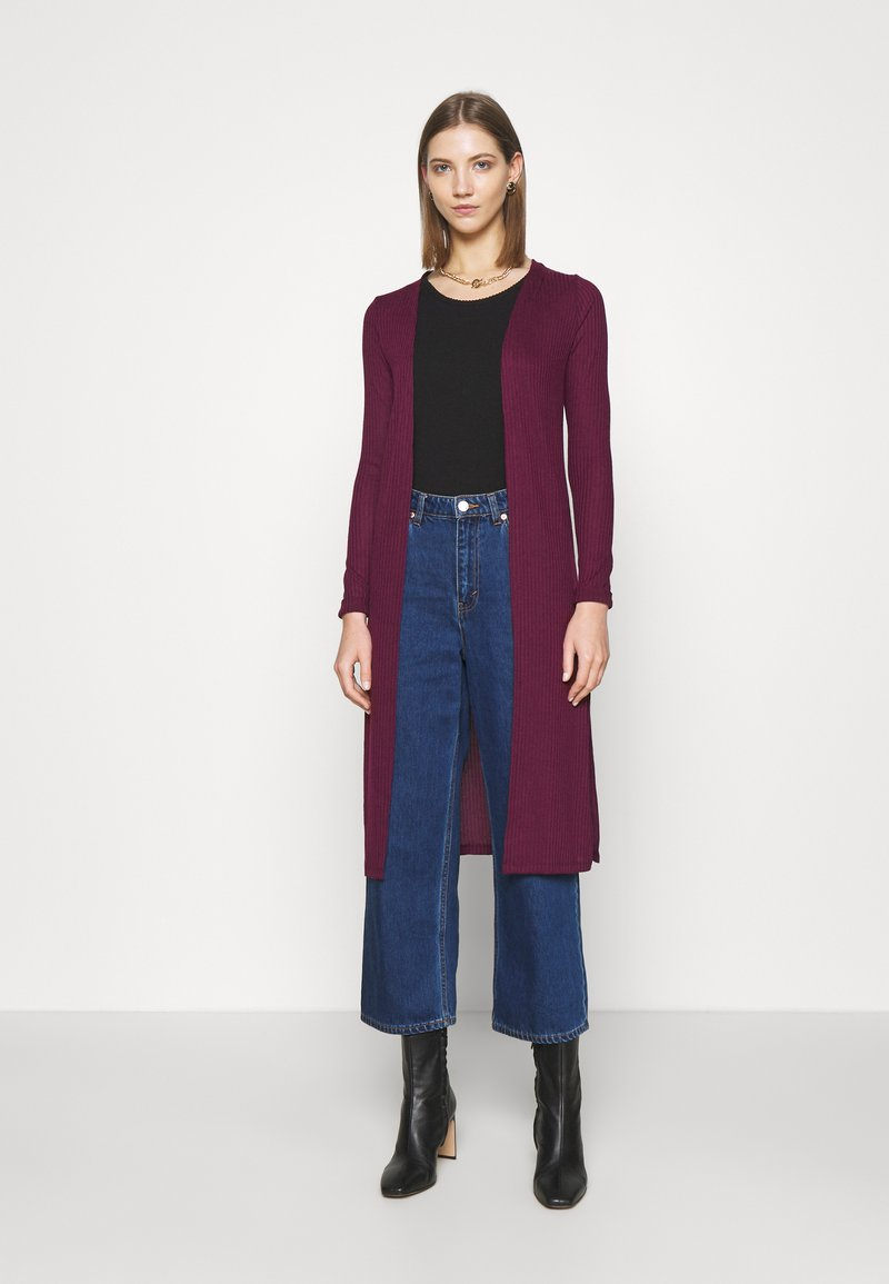 New Look - MIDI  - Cardigan - dark burgundy