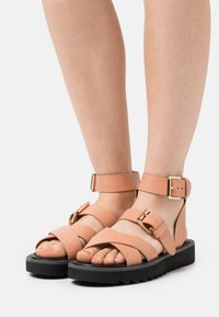 ONLY SHOES - ONLMALU CHUNKY WRAP - Platform sandals - pink - 0