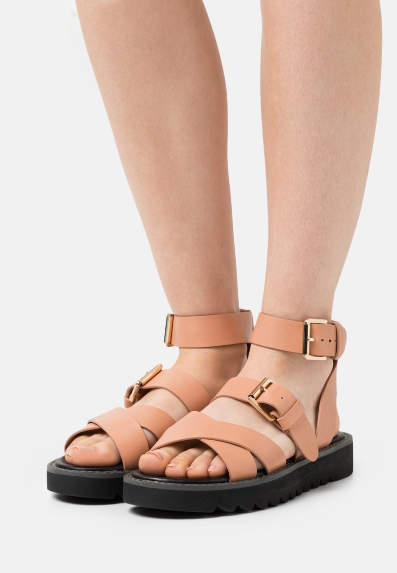 ONLY SHOES - ONLMALU CHUNKY WRAP - Platform sandals - pink