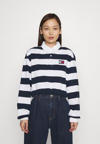 Tommy Jeans - STRIPED RUGBY - Polo - twilight navy - 0
