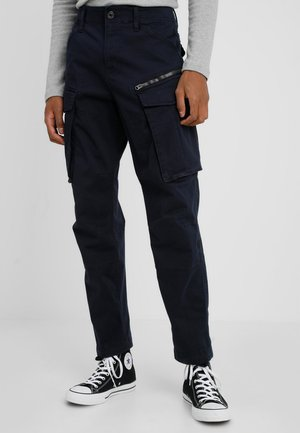 ROVIC ZIP TAPERED - Cargobukse - dark blue