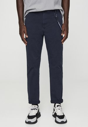Chinos - mottled dark blue