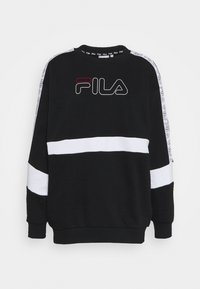 Fila - JACKI TAPED CREW - Sweatshirt - black/bright white - 4