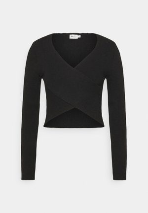CROSSOVER - Long sleeved top - black