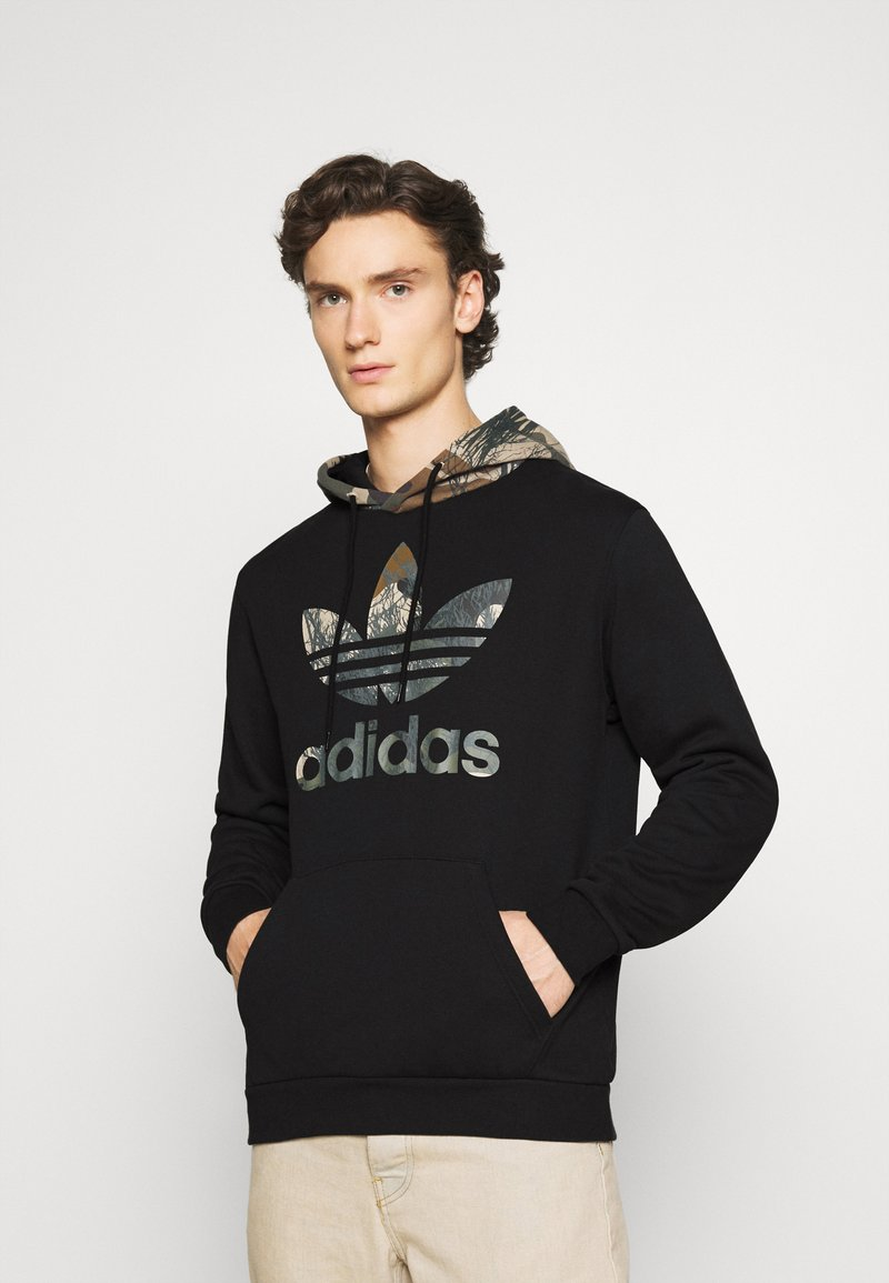 adidas Originals - CAMO BLOCK - Hoodie - black