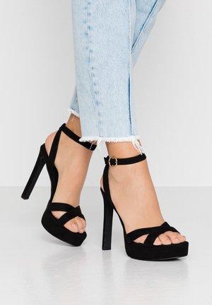 T- STEVEY - High heeled sandals - black
