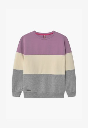 GIRLS FARBENBLOCK - Sweater - pastel lila