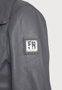 Freaky Nation - BIKER PRINCESS - Leather jacket - granite - 5