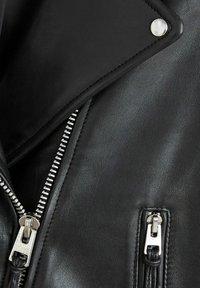 Mango - PERFECT - Veste en cuir - noir - 5