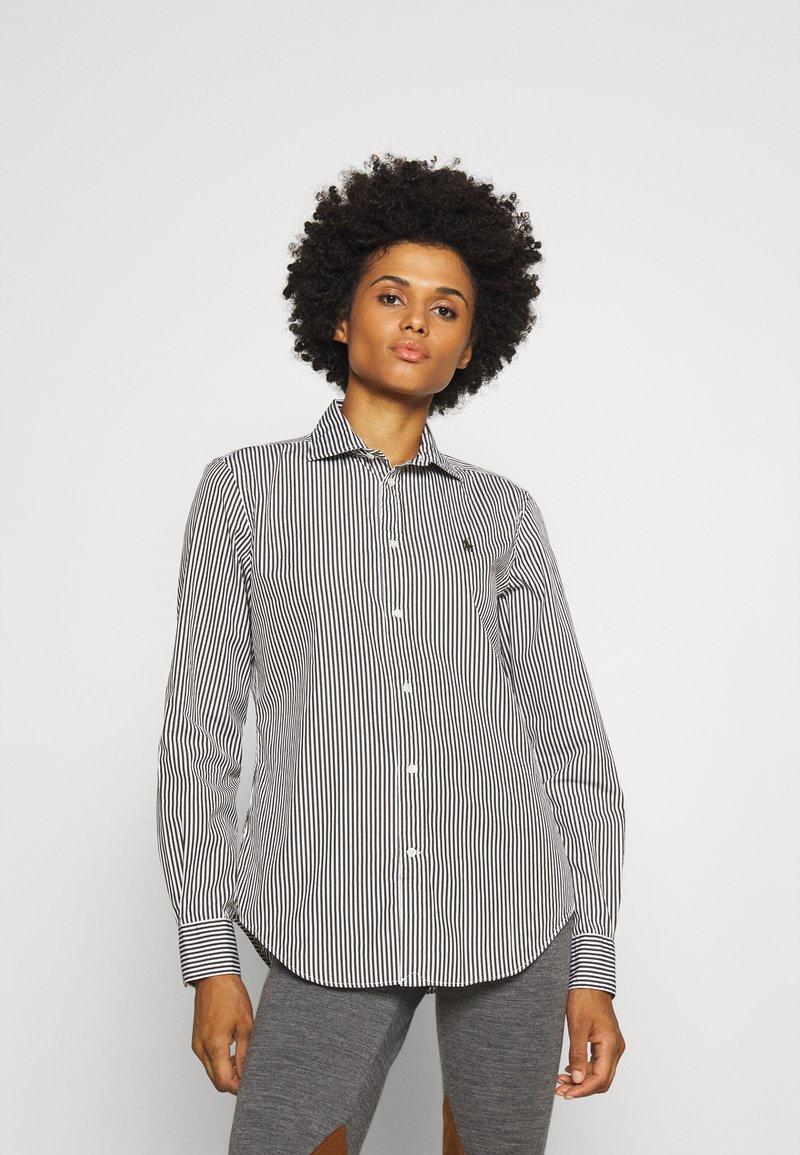 Polo Ralph Lauren - GEORGIA LONG SLEEVE - Button-down blouse - dark loden/white