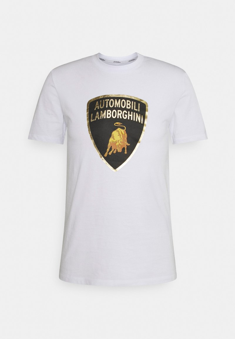 AUTOMOBILI LAMBORGHINI - Print T-shirt - ghiaccio