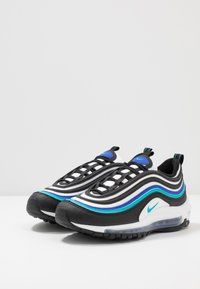 Nike Sportswear - AIR MAX 97 UNISEX - Sneakers laag - black/oracle aqua/white/hyper blue - 3