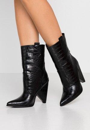 ALENA - High heeled ankle boots - black